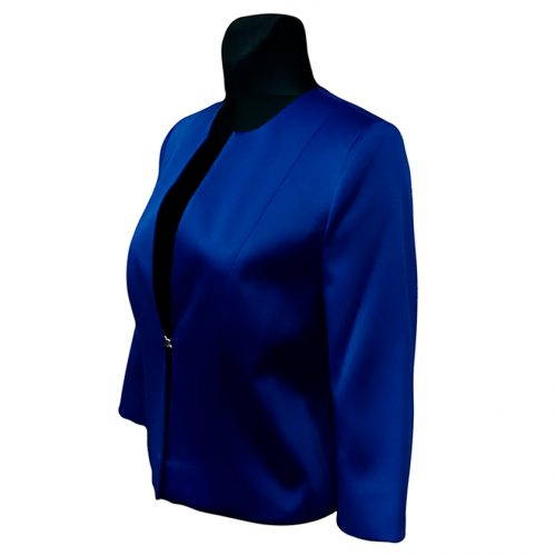 Klasikinis moteriškas mėlynas švarkas Clr mel1