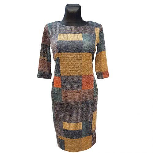 Šiltų spalvų suknelė Dagmar