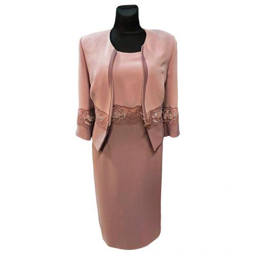 Klasikinis moteriškas kostiumas ELIS 4 iš dviejų dalių (suknelė ir švarkas)