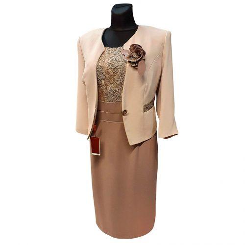 Moteriškas kostiumas Gregor (suknelė ir švarkas)