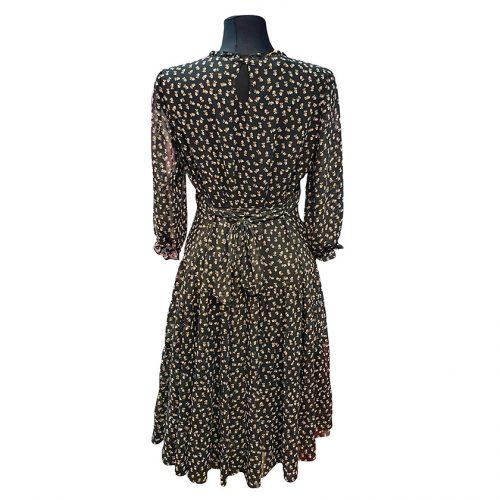 Juoda šifoninė suknelė Mgdlna sif juod