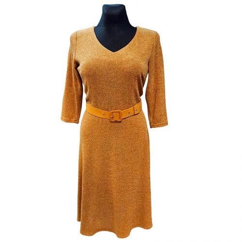 """Elegantiška """"garstyčių"""" spalvos suknelė Mgdlna wrm"""