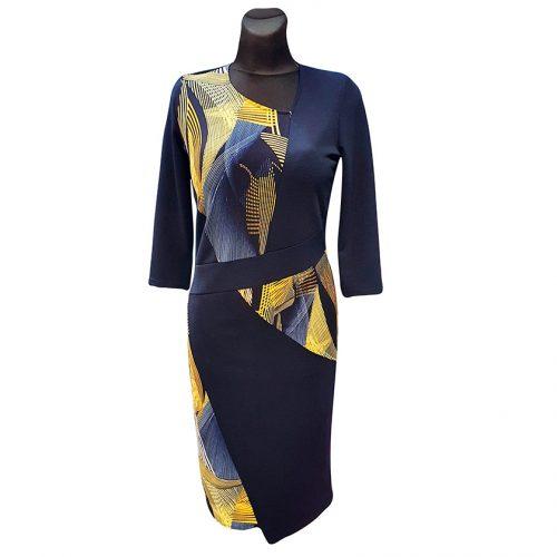Tamsiai mėlyna suknelė Tarcylia kombi2 nw