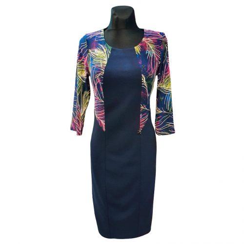 Tamsiai mėlyna suknelė Tarcylia kombi1 nw