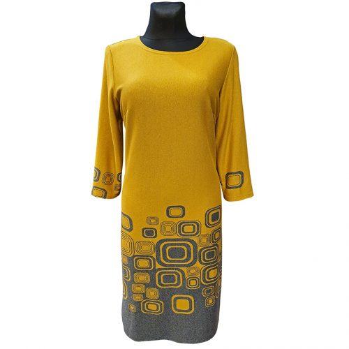 Kasdienė geltona suknelė Zaria yel