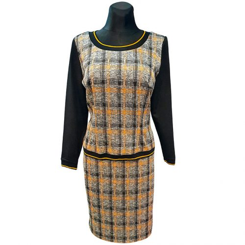 Moteriškas kostiumas (palaidinė ir sijonas) Mgdlna lng yel