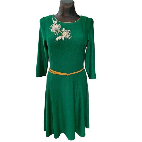 Puošni tamsiai žalia suknelė Iris gr