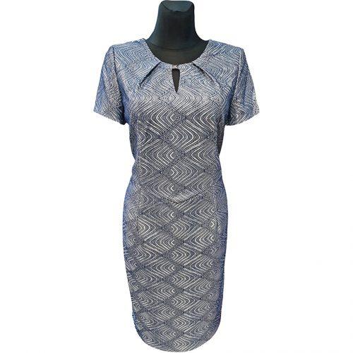 Elegantiška proginė suknelė iki kelių Livili ornam