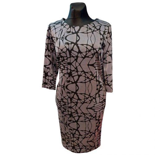 Neutralių spalvų klasikinė suknelė Clction ornam plk 2