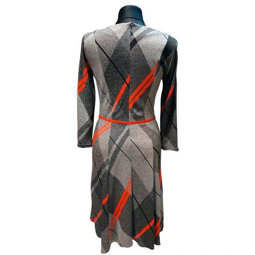 Patogi pilkos spalvos suknelė su diržu Karner red