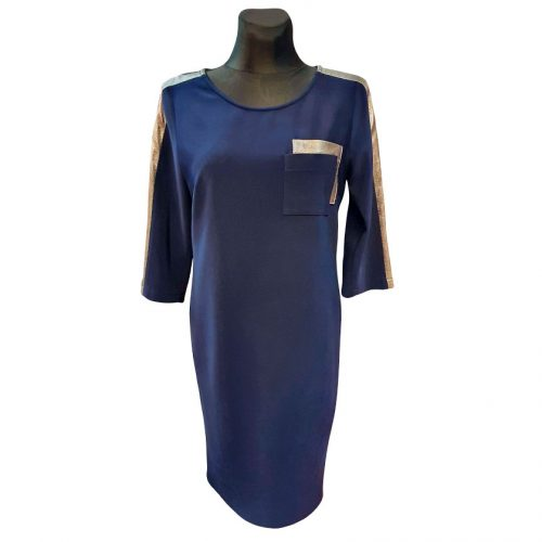 Tamsiai mėlyna suknelė Kwatex