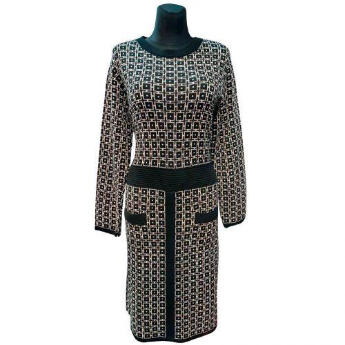 Tamsių spalvų suknelė Reksor knit
