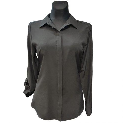 Klasikiniai juodi moteriški marškiniai Kma jd