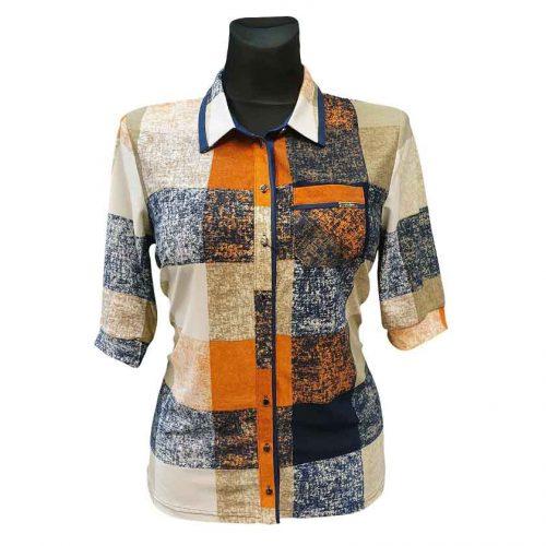 Languoti marškiniai su kalnieriumi Alicja v lng rng nw