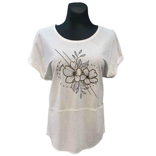 Balti moteriški marškinėliai Mgmra fl wh
