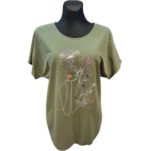 Žali moteriški marškinėliai Mgmra mjk green