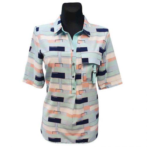 Moteriški marškiniai su kalnieriumi Alicja v tir