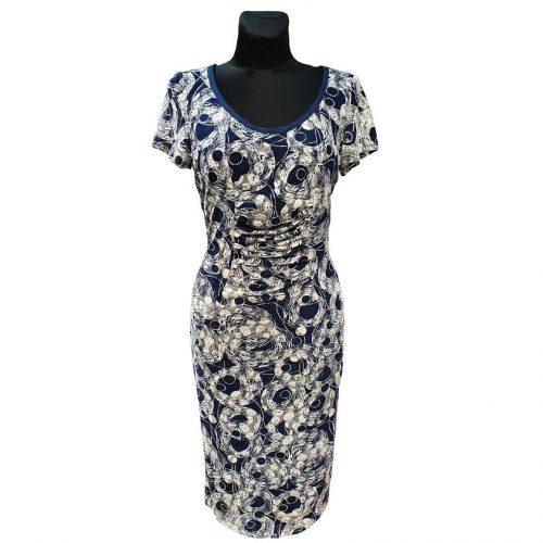 Puošni tamsiai mėlyna suknelė Asd stom