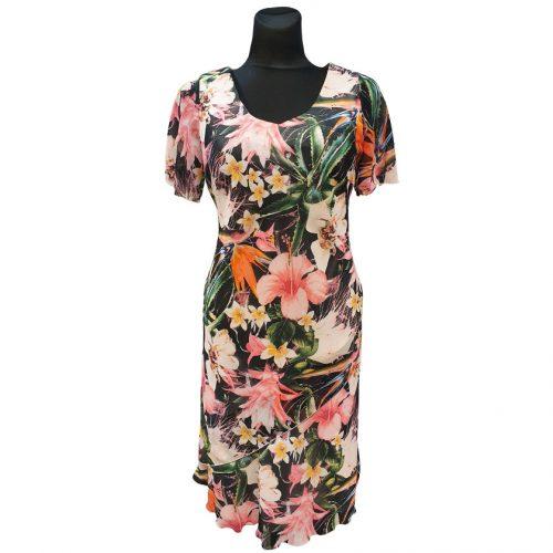 Ryški spalvinga suknelė Huna su pamušalu