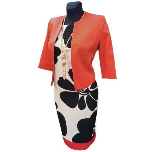 Stilinga suknelė LM gel red l trumpomis rankovėmis