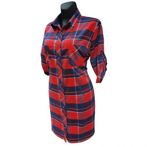 Moteriški ilgi languoti marškiniai Kma red lng