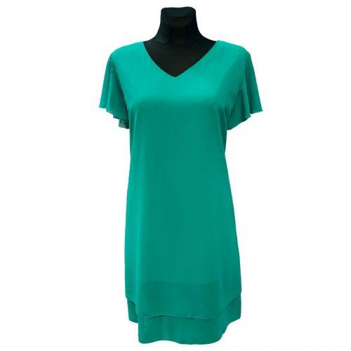 Vienspalvė žalia puošni suknelė Magda Styl gre