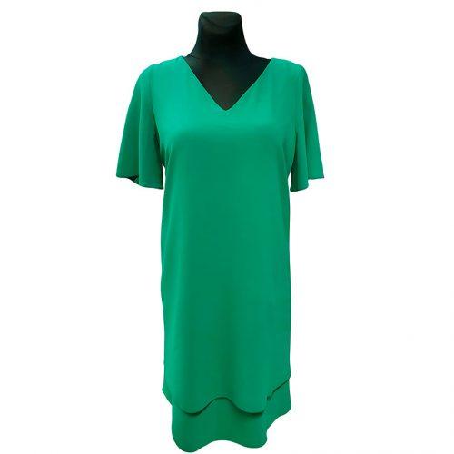 Vienspalvė žalia puošni suknelė Roxana green