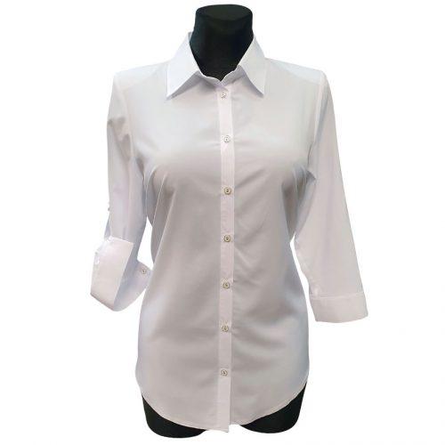 Balti moteriški marškiniai Emix w