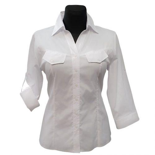 Balti moteriški marškiniai Bikkar3