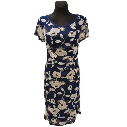 Puošni tamsiai mėlyna suknelė Asd stom2