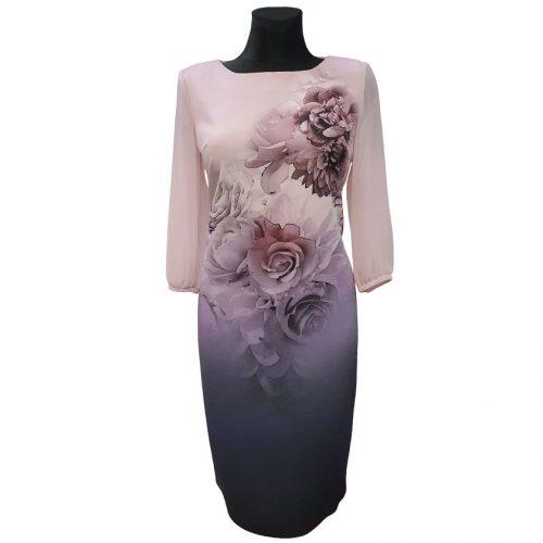 Elegantiška stilinga suknelė LM pink fl