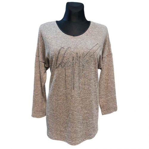 Moteriškas megztinis nuleistais pečiais Mgmra lft plk