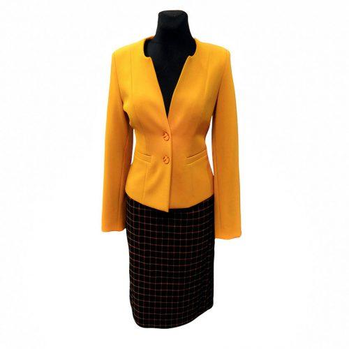 Klasikinis moteriškas kostiumas Krlx yel