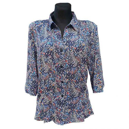 Tamprūs gėlėti marškiniai Madora gel