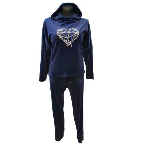 Veliūrinis sportinis kostiumas moterims Monika heart