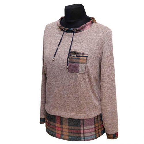 Patogus ir šiltas megztinis moterims Alicja port krem